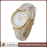 Relógio das mulheres grandes simples do relógio da cinta de couro do relógio do seletor