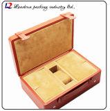 Casella di memoria di cuoio di lusso della visualizzazione dell'imballaggio della vigilanza (Sy059)
