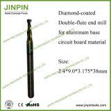 Molino de extremo de la capa del diamante para el uso en el material bajo de aluminio de la tarjeta de circuitos