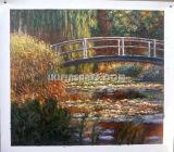 고품질 Claude Monet 복사 수련 Handmade 유화 (CMWL-028)