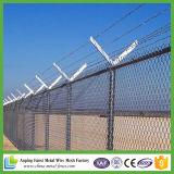 Frontière de sécurité galvanisée de maillon de chaîne de treillis métallique de diamant