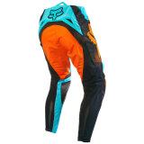 Pantaloni di riciclaggio di motocross dell'OEM dell'attrezzo di usura personalizzati azzurro Mx/MTB (MAP24)