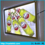 Visualizzazione di LED acrilica illuminata Lightbox sottile di cristallo