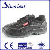 Zapatos de seguridad del cuero genuino de la inyección de la PU