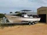 Cargos du bateau 25FT de pêche maritime à vendre des barges de travail de fibre de verre