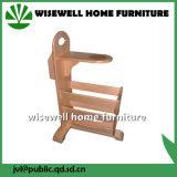 Rack de revista de madeira sólida de madeira de pinho para sala de estar