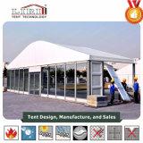 Tenda di lusso della tenda foranea di cerimonia nuziale con la parete di vetro