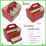 Устроитель Croco коробки ювелирных изделий Crocodil кожаный