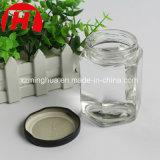 Mel de vidro /Jam/frasco de vidro do hexágono