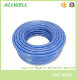 Manguito de jardín reforzado tejido fibra flexible del manguito del tubo de la irrigación del agua del PVC del plástico