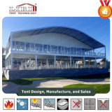 Het beweegbare Mobiele Dubbele Dek van de Tent van het Huis van Twee Vloeren met Decoratie