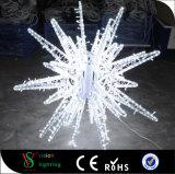 2017 luzes ao ar livre do motivo da estrela da decoração 3D da rua do Natal novo do diodo emissor de luz