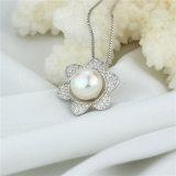 Snhの花の形のニースの女性の淡水の真珠のペンダント