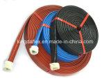 Chemise/boyau enduits d'incendie de fibre de verre d'E-Pente en caoutchouc de silicones