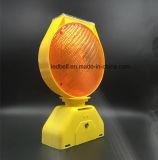 Seguridad en carretera solar de los pilotos del estroboscópico de la lámpara LED de la barricada del tráfico