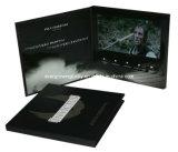 Cartão de anúncio video personalizado do LCD de 7 polegadas