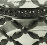 frasco de vidro do armazenamento do envoltório Reticular do aço 3PC inoxidável ajustado com tampa do metal