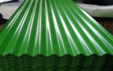 El acero del metal de Dx51d prepintó la hoja acanalada de acero galvanizada del material para techos