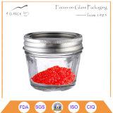 vaso di vetro del caviale 4oz con la protezione del metallo, contenitore del caviale, vasi d'inscatolamento del caviale