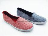 Ботинки холстины комфорта резиновый флористические напечатанные для повелительницы (ET-LH160307W)