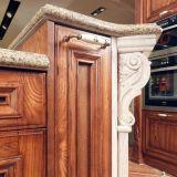 Cozinha ao ar livre elegante da madeira contínua com barra moderna (zq-007)