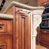 Noble festes Holz-im Freienküche mit modernem Stab (zq-007)