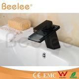 New Hydraulic LED Black Orb Single Handle Glass Waterfall Basin Water Mixer Ql140418bf
