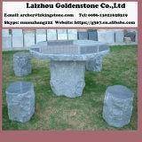 Insieme di pietra della Tabella della sosta del basalto e della Tabella del giardino della presidenza