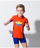 &One-Часть Waterwuit Swimwear втулки малыша короткая
