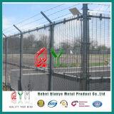 Проволочная изгородь бритвы авиапорта ячеистой сети загородки высокия уровня безопасности