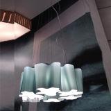 6 Leuchten steuern grünes Glas-Aufhängung-Beleuchtung, hängende Lampen-Beleuchtung automatisch an