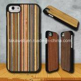 Cas en bois de téléphone cellulaire de Rose pour l'iPhone 6s/6plus/7