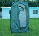 Grünes Silber-überzogenes im Freien sofortiges änderndes Zelt