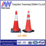 45cmの赤い反射プラスチック道路交通の円錐形