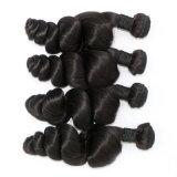インドのバージンの毛の緩い波の自然で加工されていない人間の毛髪