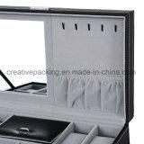 Кожаный коробка ювелирных изделий с типом сбор винограда