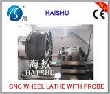 Máquina de polonês da roda da liga da máquina Ck6187W do torno do CNC