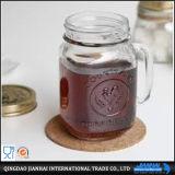 De Kruik van de Metselaar van de Fles 250ml van het glas met Handvat en Stro