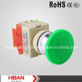 CE RoHS 22mm Mushroom Head Push Button