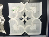 Preto novo da flor do projeto e telha de mármore do mosaico de Carrara