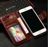 iPhone 6 Mobile Phone Cover Caseのための高品質のLuxury Flip PU Leather Case