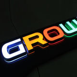 L'acrylique coupé par laser chaud de vente marque avec des lettres le laser clair de lumières de cristal de DEL coupant les lettres acryliques