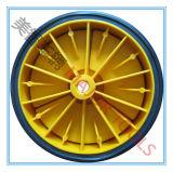 wiel van de Gietmachine van de Band van pvc van 150mm het Kleine Stevige