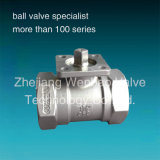 Edelstahl Ball Valve mit ISO5211 Direct Mounting Pad