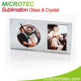 Trame en verre latérale d'horloge de miroir