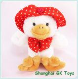 Leuke Eend met het Speelgoed van de Pluche van het Speelgoed van de Baby van de Hoed