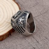 ステンレス鋼の金属Oの宝石類は軍隊のリングを5つの星鳴らす