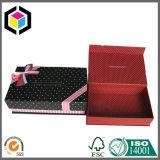 Caixa de presente branca do papel do cartão da cópia de cor dos pontos com ímã