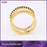 Ontwerp Vijf van de Bloem van het messing Ringen van de Juwelen van CZ van de Vrouwen van de Kleur de Gouden voor de Toebehoren van de Doek