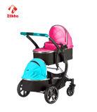 En1888 vendem por atacado o carrinho de criança de bebê dos gêmeos do estilo da forma